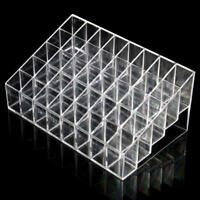40 Clear Acrylic Lipstick Holder Stand Display Cosmetic Makeup Case Organizer