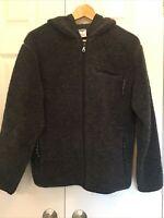 VTG Old Navy Dark Gray Fleece Zip Front Hoodie Jacket Women's M Zip Pockets EUC!