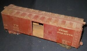 Early O Scale 40' Pere Marquette Wooden Boxcar