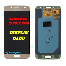 DISPLAY OLED=ORIGINALE TOUCH SCREEN SAMSUNG GALAXY J5 2017 J530F VETRO ORO GOLD