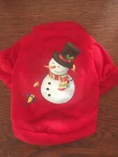 XS FESTIVE SNOWMAN T-Shirt Dog clothes NWT NEW! CUTE!