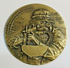 "Rare Bronze Military Medal Portuguese Navy SOF ""DAE"" ( Portuguese SEAL'S)"