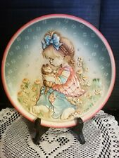 """Anri Sarah Kay Wood Carved Plate """"A Time For Secrets"""" 1st Edition #484/2500"""