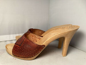Vintage 1980s Candies Original Sandal High Heels Slides Sexy Perforated 9 / 40