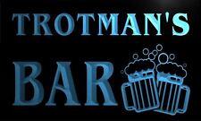 w010928-b TROTMAN Name Home Bar Pub Beer Mugs Cheers Neon Light Sign