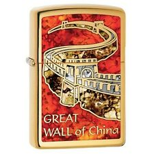 Zippo 29244 Great Wall of China High Polish Brass Fusion Finish Lighter