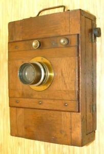 Alte 13x18cm Plattenkamera im Holzgehäuse ! 44mm Einschraubmaß!