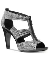 Michael Kors MK Women's Berkley T-Strap Glitter Chain Mesh Dress Sandals Shoes
