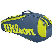 WILSON VERBRENNER RUSH-TEAM 3 PACK TENNIS TASCHE LIMITIERTE AUFLAGE BLAU / GELB