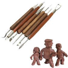 6 piezas de cerámica surtido de Polímero Arcilla Cerámica Esculpir Talla herramientas vendedor del Reino Unido