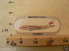 STICKER,DECAL MARTINAIR HOLLAND A310 C AIRPLANE VLIEGTUIG A