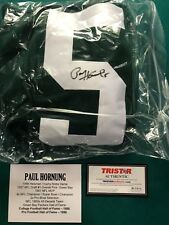 PAUL HORNUNG autographed signed Packers green Jersey Tristar