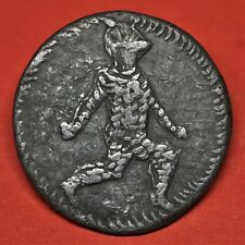RARE VICTORIAN BILLY AND CHARLEY PEWTER 'COIN' SHADWELL FORGERY, 19TH CENTURY.