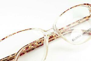 GLORIA VANDERBILT 756 260 Pattern on Clear 52-15-135 Frames Flex Hinges E131