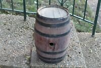 Antique Primitive Wood Barrell Keg Barrel Small Size Country Farm Decor Wine