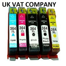 5 CHIPPED 364 INK CARTRIDGES HP PHOTOSMART 5510 5515 5520 5524 6510 C6380