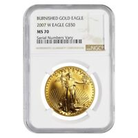 2007 W 1 oz Burnished $50 Gold American Eagle NGC MS 70