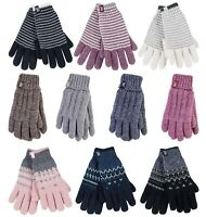 Heat Holders - Womens Warm Cold Weather Insulated Knit Thermal Winter Gloves