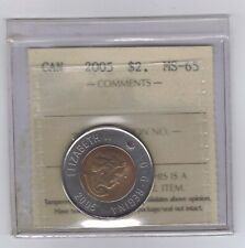 "**2005** Canadian ""Toonie"" Two Dollar - ICCS MS-65 **NO SALES TAX**"