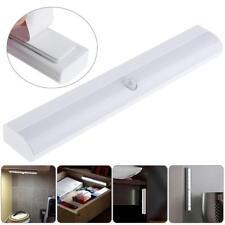 Battery Powered 100LM 10LED Motion Sensor Light Bar Cabinet Wardrobe Night Lamp