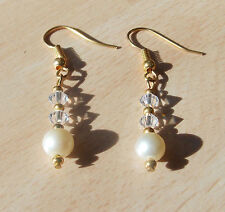 Crystal Earring Vintage Costume Jewellery (Unknown Period)