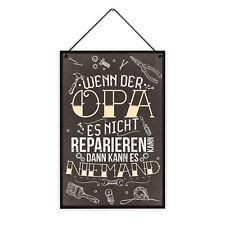 Opa Reparieren 20 x 30 cm Holz-Schild 8 mm Spruch Motiv Werkstatt  Geschenk-Idee