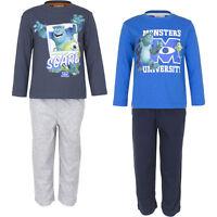 Neu Pyjama Set Schlafanzug Jungen Monster AG Blau Grau Schwarz 98 104 116 128#55