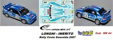 DECAL  1/43 - Subaru Imreza  WRX  - LONGHI - Rally Costa Smeralda  2007