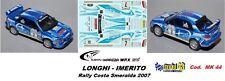 DECAL  1/43 - Subaru Imreza  WRX  - LONGHI - Rally Costa Smeralda  2007