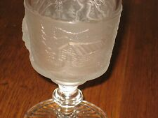 """Antique EAPG Spooner Pressed Glass tri-mold """"Early American Sunrise"""""""