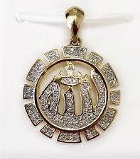 Allah Pendant 10K Solid Yellow Gold 0.20 Ct Natural Diamond Muslim Name of God