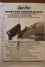 SNO PRO FRONT END LOADER BLADES FOR TRACTOR & SKID STEER LOADERS