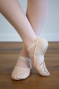 BALLET DANCE SHOES - SPLIT SOLE  LEATHER & NEOPRENE Ballet Pink - EU28.5 - EU42