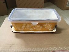 Temp-tations Floral Lace Fall Loaf Pan With Lid-It and Plastic Lid Meatloaf Pan