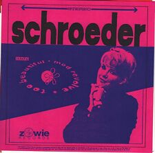 Schroeder - Too Beautiful - 1993 Zowie 7 Inch Vinyl Record NEW