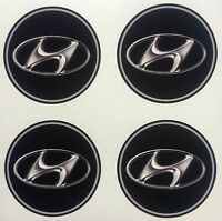 4x 35 mm fits HYUNDAI wheel STICKERS center badge centre trim cap hub alloy
