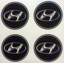 4x 55 mm fits HYUNDAI wheel STICKERS center badge centre trim cap hub alloy
