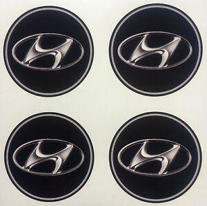 4x 65 mm fits HYUNDAI wheel STICKERS center badge centre trim cap hub alloy
