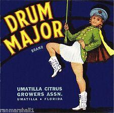 Umatilla Florida Drum Major Orange Citrus Fruit Crate Label Art Print