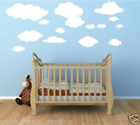 WALL STICKERS 🌥15 CLOUDS stickers KIDS ROOM WALL STICKERS  VINYL WALL DECAL S58