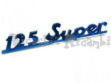 1430 TARGHETTA POSTERIORE BLU VESPA 125 SUPER IN ALLUMINIO CON PIOLI