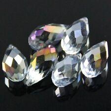 4pcs 10X20mm Swaro-element Teardrop  crystal beads C blue plated