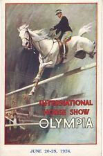 1924 International Horse Show Olympia Show Jumping Poster A3  Reprint