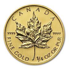 2014 1/4 oz Gold Canadian Maple Leaf Coin - Brilliant Uncirculated - SKU #79041