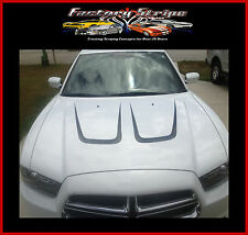 DODGE CHARGER HOOD SCALLOPS INSERTS DECALS FACTORY STRIPE 2011 2012 2013