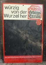 altes Reklameschild Holzfaserplatte Grassl Gebirgs Enzian