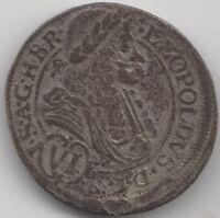 1691 IAN Austria Leopold I Silver 6 Kreuzer | European Coins | Pennies2Pounds