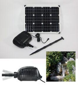 50 W Solar Bachlaufpumpe 3400l/h Teich Solarpumpe Wasserfall Gartenteich Pumpe