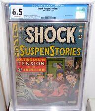 Shock SuspenStories #1 EC Comic CGC Universal Grade 6.5 Classic Electrocution