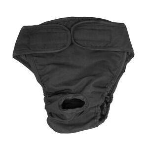 Reusable Pet Dog Pants Sanitary Physiological Diaper Nappy Underwear Black S